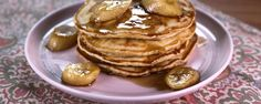 Brown Sugar Pancakes with Bananas Flambe - Mario Batali