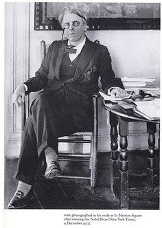 Hotel de Ville: A Vintage Eyewear Blog: Yeats in his study, 1911