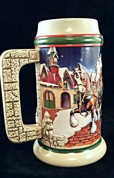 1998 budweiser holiday christmas stein grants farm cs343 294 - Budweiser Christmas Steins