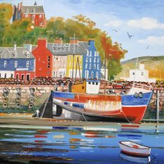 Tobermory Beach Scenes Limited Edition Print by Daniel Campbell only + choice of a FREE print Beach Scenes, Free Prints, Limited Edition Prints, Far Away, Gallery, Places, Pictures, Painting, Art