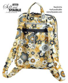 Fun mini backpack perfect for little kids or as a small travel purse. Back at Ya pattern using ByAnnie's Soft and Stable.