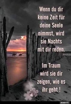 If you do not take time for your soul, it will be at night . Text Pictures, Funny Pictures, Funny Images, German Quotes, Mind Tricks, True Words, Really Funny, Quotations, Beautiful Pictures