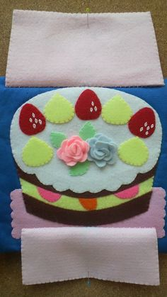 Inside the present is a cake! quiet book page