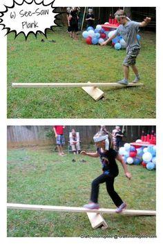 "Photo 10 of Lego Ninjago, Ninja / Birthday ""Ninjago / Ninja Birthday"" Catch My Party Kids Ninja Warrior, Ninja Warrior Course, American Ninja Warrior, Obstacle Course Party, Backyard Obstacle Course, Obstacle Course For Kids, Backyard Games, Outdoor Games, Outdoor Ideas"