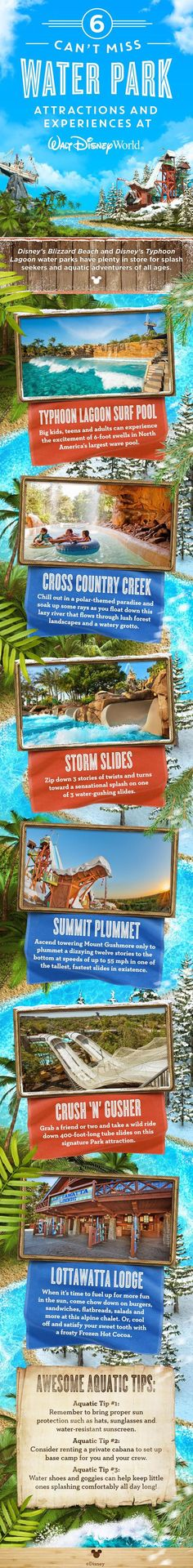 Discover why no Walt Disney World family vacation is complete without a visit to Disney's Typhoon Lagoon and Disney's Blizzard Beach! From serene to extreme, there's an experience for everyone.