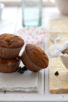 Pumpkin and chocolate muffins / Muffins à la courge et pépites de chocolat