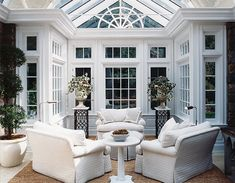 A girl can dream right? Gorgeous conservatory by Diana Sawicki.