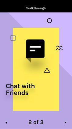 Chat UI Screen via invision