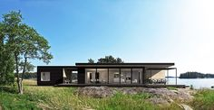 Best Ideas For Modern House Design : – Picture : – Description Sunhouse Prefab Scandinavian Architecture, Space Architecture, Scandinavian Style, Aka House, Tiny House, Modern House Design, Modern Houses, Cottage Homes, Exterior Doors