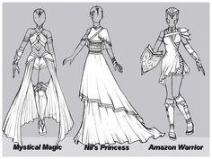 Outfit design : Batch 1 ( 2/3 OPEN ) by JessyB-Design.deviantart.com on @DeviantArt