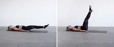 lying leg raises