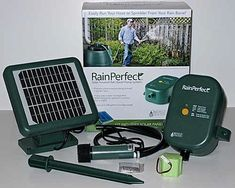 RainPerfect is a solar-powered pump system that collects seasonal rainwater in a barrel, energizing itself with a NiMH battery that's charged by a 3.5 kW solar panel.