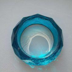 Vintage 1970's Ice Blue Crackle Bangle Retro Bangle Geometric Bangle Acrylic Bangle Lucite bangle by VintageBlackCatz on Etsy