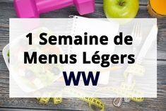 1-Semaine-de-Menus-Légers-WW Simple Muffin Recipe, Healthy Muffin Recipes, Healthy Muffins, Menu Leger, Menu Ww, Weight Warchers, Weight Watchers Menu, Diet Inspiration, Best Diet Plan