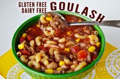 """GF DF Goulash.  Not sure this is actually goulash but it looks yummy and will travel well as a """"Take a Meal"""""""