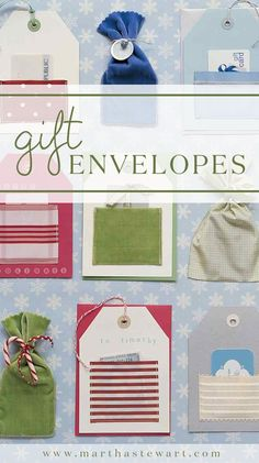 These handmade envelopes, fashioned from magazine pages and wrapping paper, are great for flat gifts.