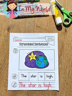 Twinkle, Twinkle Little Star Nursery Rhyme Worksheets and Activities - In My World First Grade Freebies, Kindergarten Freebies, Kindergarten Literacy, Kids Learning Activities, Preschool Ideas, Common Core Reading, Star Nursery, Thing 1, Fun Worksheets