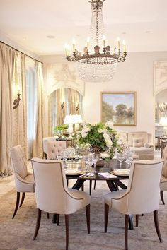 Lovely & Chic Dining Room by ML Interiors