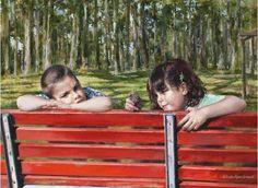 La Panchina Rossa by Lucia Sarto.