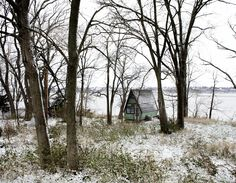 Cottage in Western Illinois on the banks of the Mississippi River. Photographed by Noah Kalina.