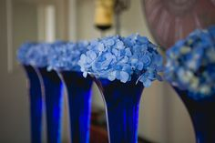 Sapphire Sky Blue Wedding Centrepiece Wedding Table Decoration Wedding Flower Ideas - http://www.weddingdecordirect.co.uk/brands/Blue-Decorations.html
