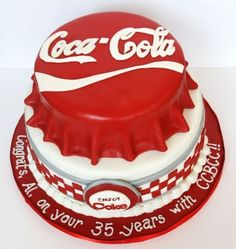 coca cola birthday cake | Via Free Patterns and More