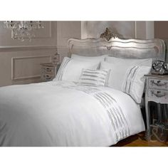 Imperial Rooms White Ruched Duvet Cover Set With Pillow Cases bffeebe96a