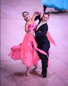 Reddish Pink Ballroom Dress - For Sale Selavidance.com #034KNAW01
