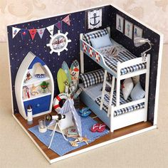 DIY 3D Kit Modelo de Casa De Bonecas Em Miniatura De Madeira Sala de Jantar Com Tampa E LED mobiliário Artesanato Em Miniatura de Cozinha casa de Bonecas(China (Mainland))