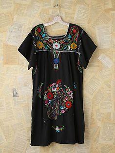 Vintage Floral Embroidered Dress