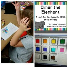 Elmer the Elephant Math and Literacy First Grade Counting On/Counting Up