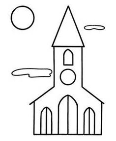 Church coloring pages include church buildings, stained glass windows, and church music. Some easy coloring pages for kids and some harder ones for the adults. Print them all for free. Church Coloring Pages Cross Coloring Page, Spring Coloring Pages, Easy Coloring Pages, Pattern Coloring Pages, Christmas Coloring Pages, Printable Coloring Pages, Coloring Rocks, Coloring Worksheets, Colouring