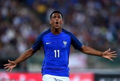 Anthony Martial scored the French opener in their international friendly against…