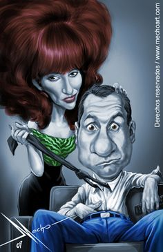 Married with Children caricature WWW.RICARDOSAMUDASINCLAIR.COM