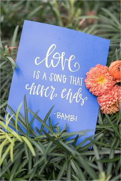 cute Disney saying decor @weddingchicks