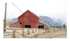 The Barn Art Print by Lily Williams   Society6