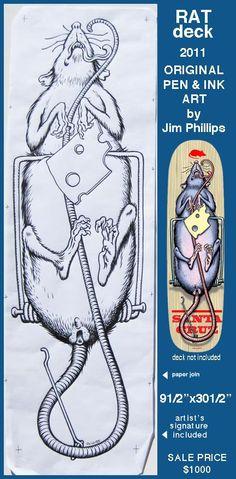 Jim Phillips original art for sale