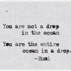 "This is an awesome quote and all, but did anyone else read it, ""You are not a derp in the ocean"" ..? Just me? Okay."