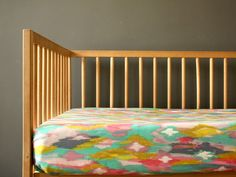 WATERCOLOR -Crib Fitted Sheet - Baby/Toddler Bed Sheet