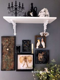 Are you a Halloween junkie with a passion for the spooktacular? Here's how I keep Halloween alive all year round in my suburban home. Creepy Home Decor, Goth Home Decor, Bohemian Bedroom Decor, Chic Halloween Decor, Diy Halloween Decorations, Gothic Room, Glam Room, Victorian Decor, Inspired Homes