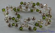Swarovski Crystal & Pearl Bracelet Wire by CherrywoodCrystal, $55.00