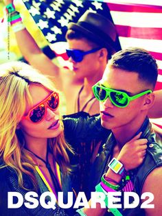 """DSquared2 2012 spring summer campaign. Back to the """"fluor"""" days."""