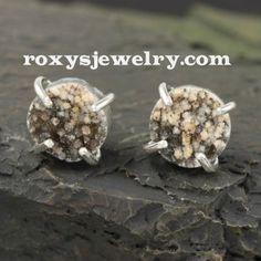 Drusy Stud Earrings, $65