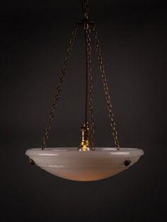 Antique Jefferson Moonstone Plafonnier Bowl Pendant Light Art Deco Lighting, Antique Lighting, Lighting Design, Pendant Lighting, Chandelier, Antique Lanterns, Cottage Lighting, Art Nouveau, Light Fittings
