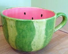 Ceramic Mug: Hand painted Mega Mug by MineByDesignStudio on Etsy