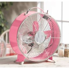 Pink retro style fan. Really this is a new fan
