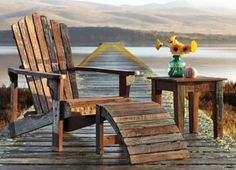 how wonderful would it be to have a deck  into the water and an adirondack to stick on it?