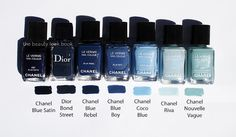 The Beauty Look Book: Chanel Blue Rebel, Coco Blue & Blue Boy Comparisons