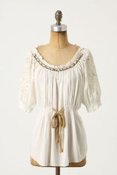 peasant blouse But all white?