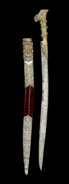 'Yatağan' (sword with forward bend). Late-Ottoman, 18th or 19th century.